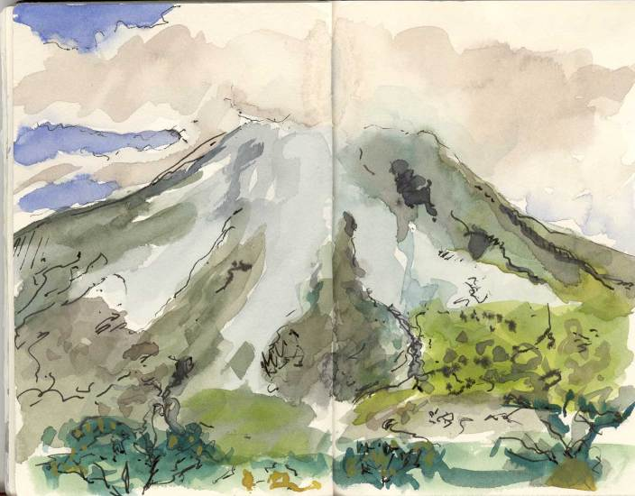 Arenal Volcano sketch