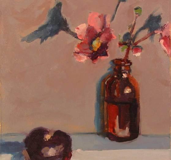Plum and Japanese Anemone