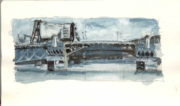 Burnside Bridge value study