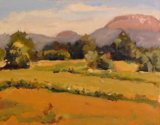 Mt St Helens from Steelman Rd plein air
