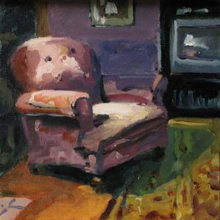 Interior with velvet chair 3