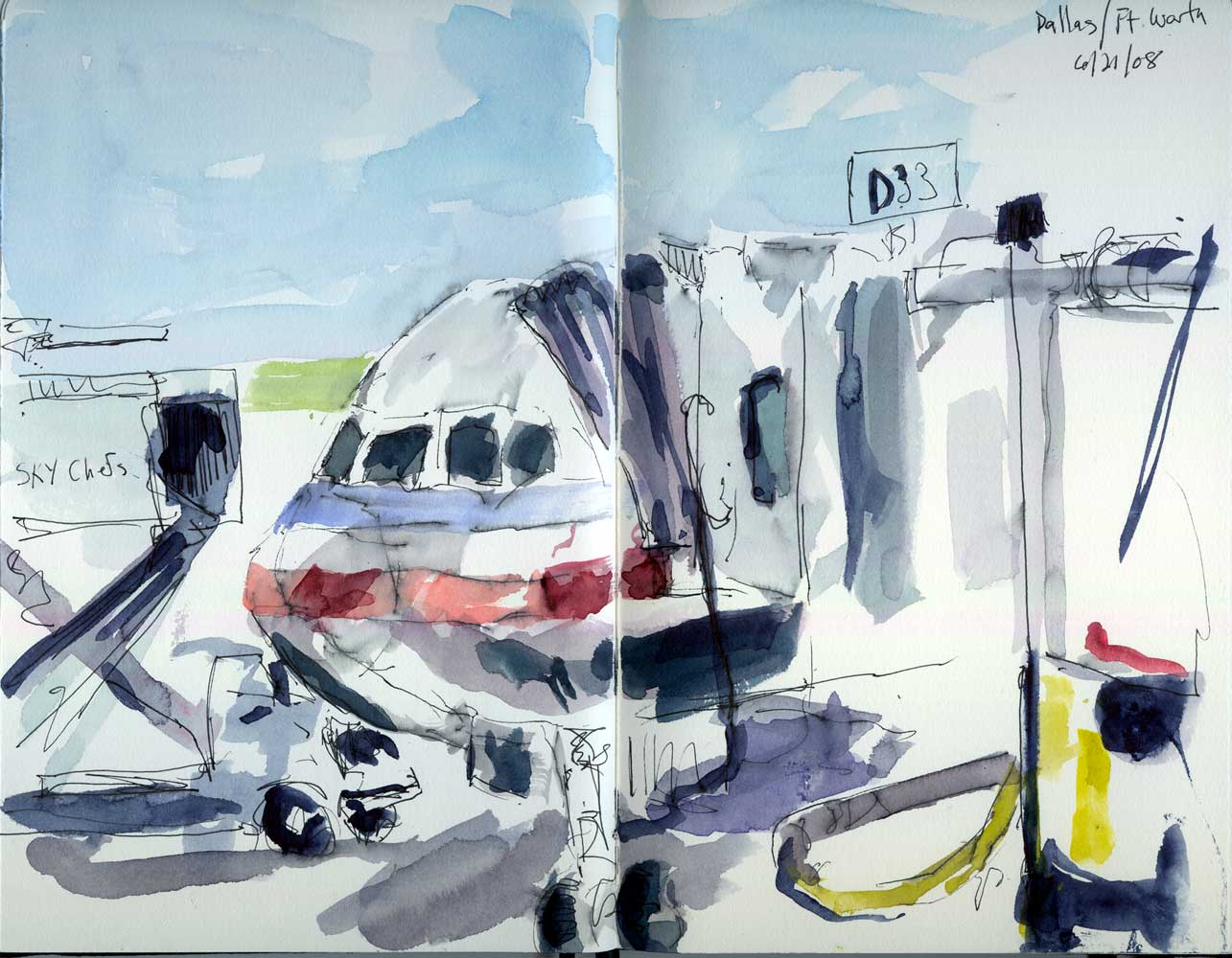 Airport Sketches Bill Sharp Paintings Blog