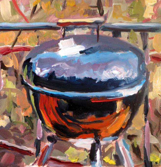 he painted his weber grill. Black Bedroom Furniture Sets. Home Design Ideas