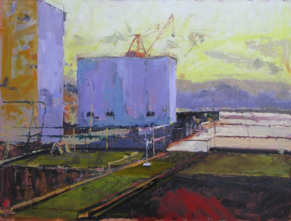 """Shipyard"" 33"" x 44"" oil on linen"
