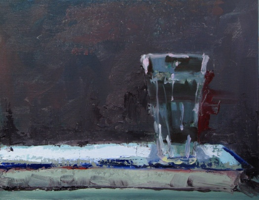 """Empty Glass"" 9"" x 12"" oil on linen panel"