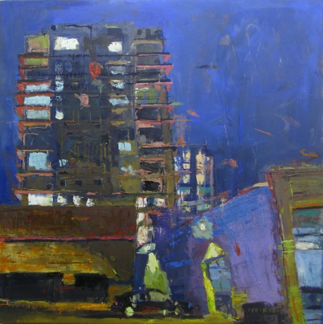 "Pearl District Nocturne30"" x 30"" oil on linen"