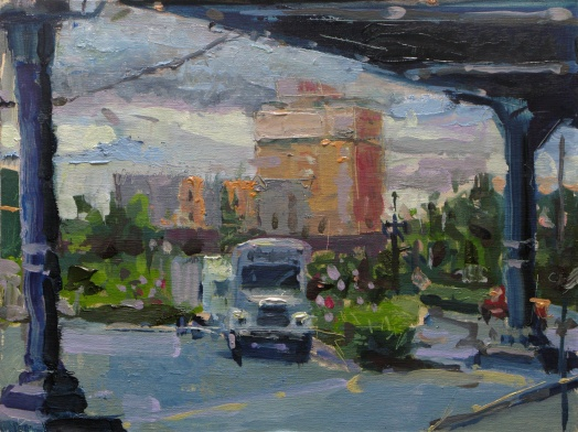 """Outside Union Station"" 9"" x 12"" oil on linen panel"