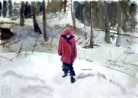 Leslie-in-the-Snow-wtrclr-10x14