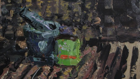 Still Life with Chinese Herbs oil on panel
