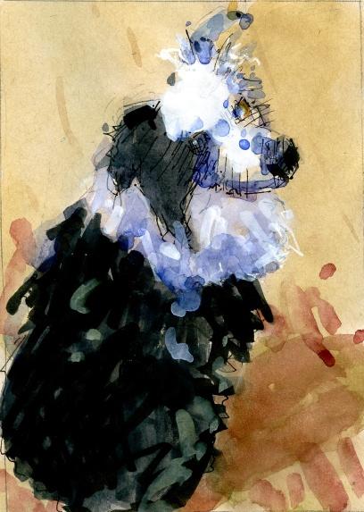 """Tali"" watercolor in sketchbook"