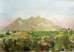 Monte Sarrote watercolor