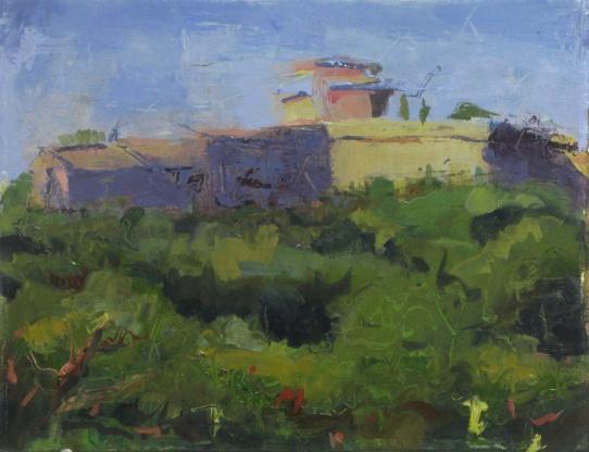 "Fort at Civita Castellana 11"" x 14"" oil on linen panel"