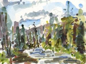 """""""Metolius River"""" watercolor"""