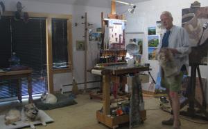 Bill Sharp in studio 8-15
