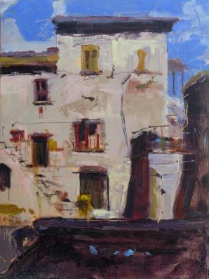 "Via Delle Molle 36"" x 24"" oil on panel"