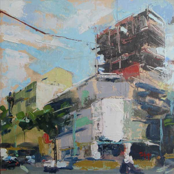"Infill Construction 12"" x 12"" oil"