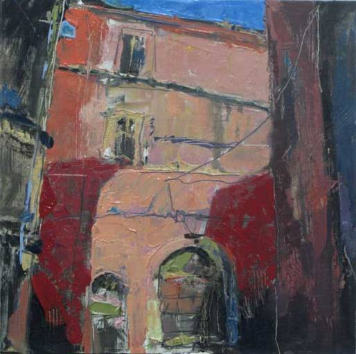 Bill Sharp - Italian Alleyway - 12x12 - oil